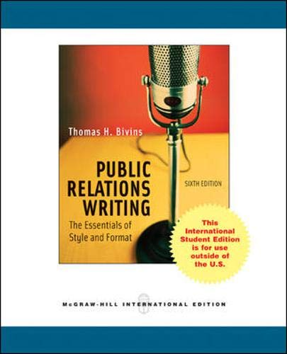 9780071101837: Public Relations Writing: The Essentials of Style and Format
