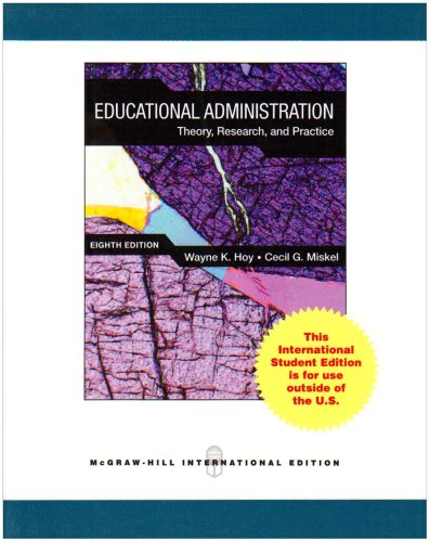 9780071101868: Educational Administration: Theory, Research, and Practice