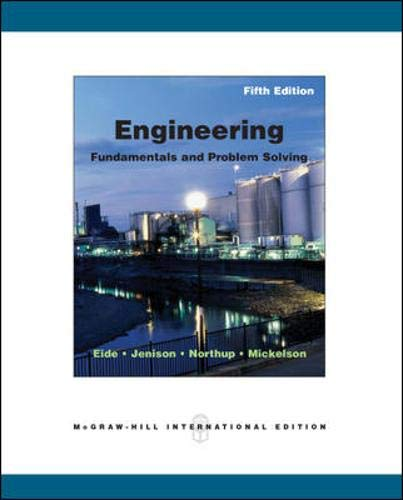 9780071101905: Engineering Fundamentals and Problem Solving