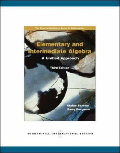 9780071101936: Elementary and Intermediate Algebra