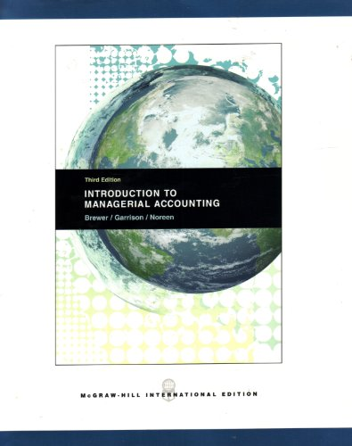 9780071102940: Introduction to Managerial Accounting