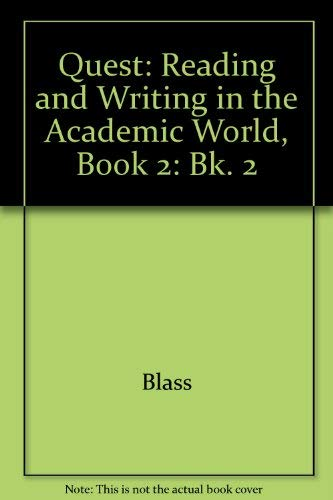 9780071103350: Reading and Writing in the Academic World: Bk. 2 (Quest)