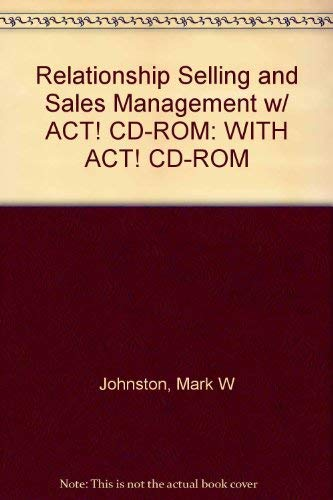 9780071104296: Relationship Selling and Sales Management: WITH ACT! CD-ROM