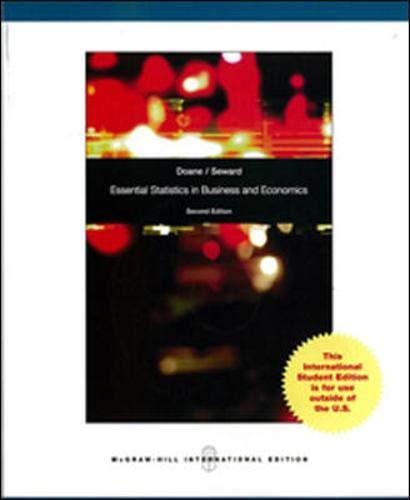 9780071104333: Essential Statistics in Business and Economics (Int'l Ed)