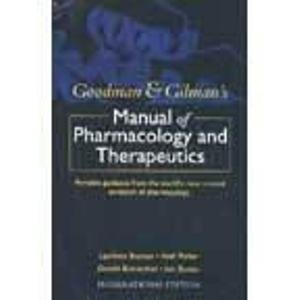 9780071104432: Goodman/Gilmans Manual of Pharmacology and Therapeutics