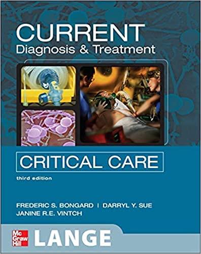 9780071104470: Current Critical Care Diagnosis and Treatment, 3E