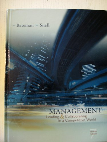 """Management 7th Ed """"International Edition"""" (Management Leading & Collaborating in a ..."""