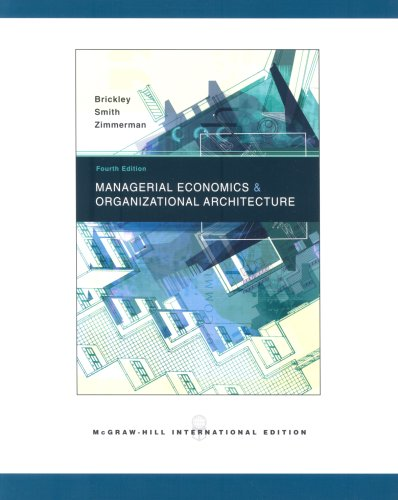9780071106337: Managerial Economics and Organizational Architecture