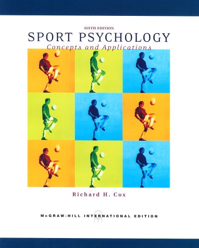9780071106429: Sport Psychology: Concepts and Applications