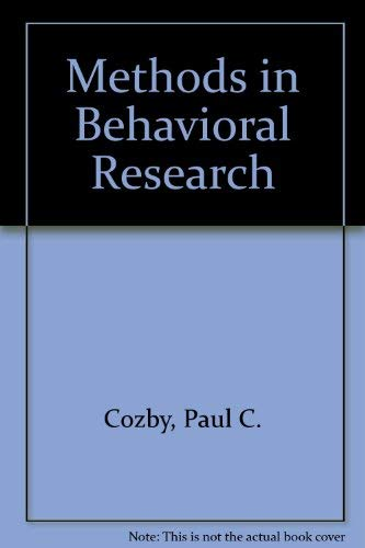 9780071106436: Methods in Behavioral Research