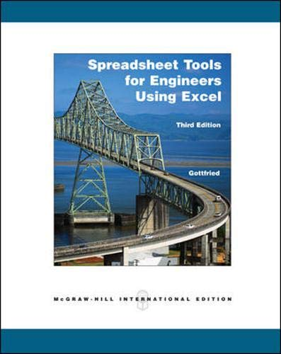9780071106634: Spreadsheet Tools for Engineers using Excel