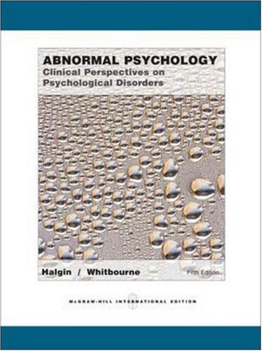 9780071106658: Abnormal Psychology: Clinical Perspectives on Psychological Disorders