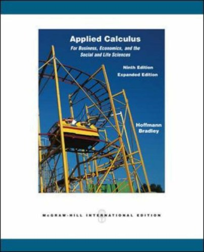 Applied Calculus for Business, Economics, and the: Hoffmann, Laurence D.