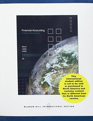 9780071106931: Financial Accounting (Financial Accounting A Global Prospective)