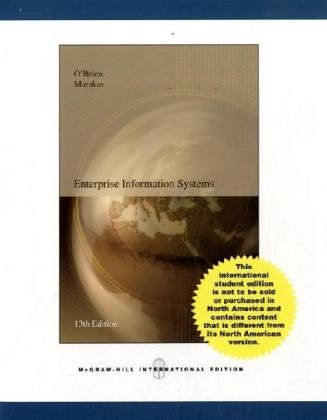 9780071107105: Enterprise Information Systems: