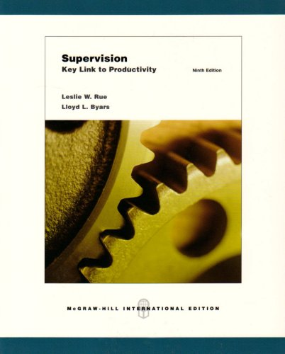 9780071107365: Supervision: Key Link to Productivity