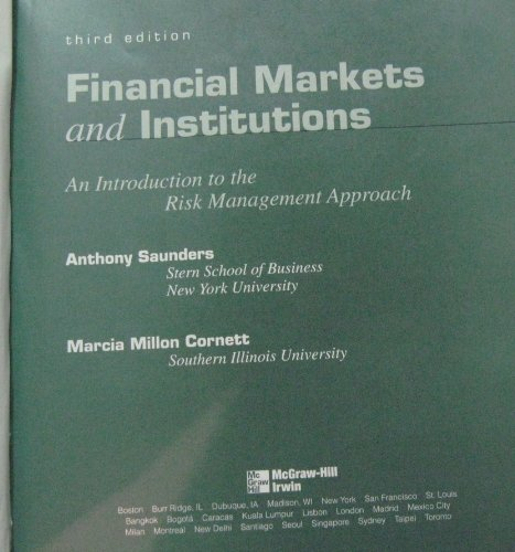 9780071107419: Financial Markets and Institutions