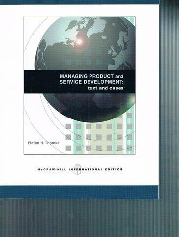 9780071107556: Managing Product and Service Development: Texts and Cases