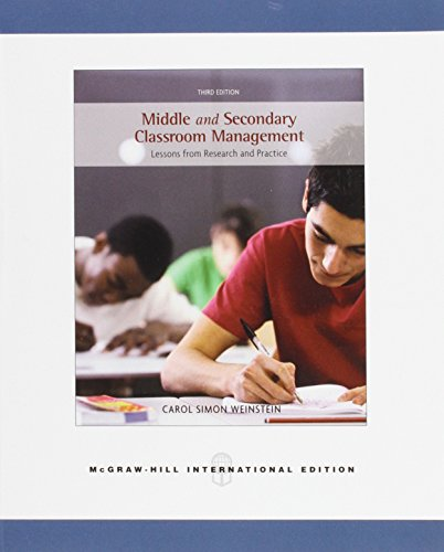 9780071107648: Secondary Classroom Management: Lessons from Research and Practice