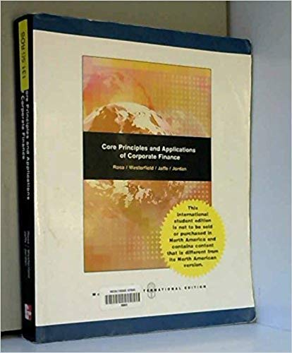 corporate finance core principles and applications chapter 4 closing case Table of contents for corporate finance : core principles & applications to corporate finance 1 1 closing case: east coast yachts chapter two.