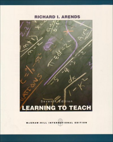 9780071108089: Learning to Teach. Richard Arends