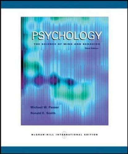 9780071108256: Psychology: The Science of Mind and Behavior with In-Psych Cd-Rom and PowerWeb