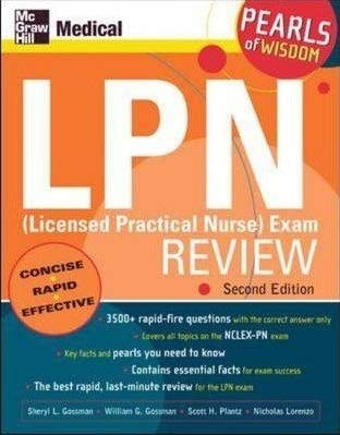 9780071108690: [(LPN (Licensed Practical Nurse) Exam Review: Pearls of Wisdom)] [Author: Sheryl L. Gossman] published on (September, 2005)
