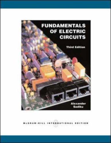 9780071109031: Fundamentals of Electric Circuits