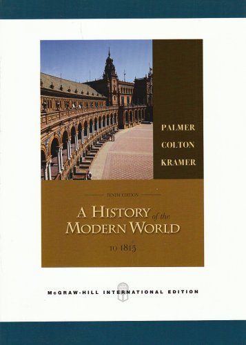 9780071109086: A History of the Modern World, Volume 1: v. 1