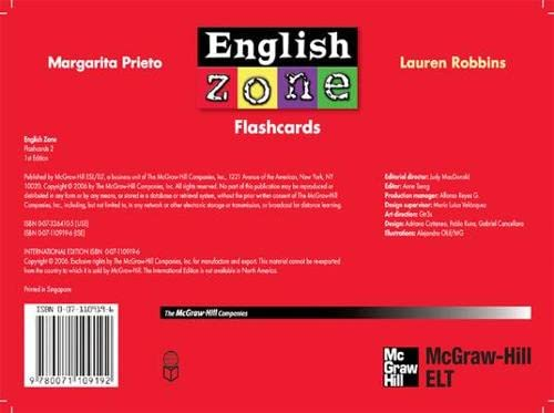 9780071109192: ENGLISH ZONE FLASHCARDS 2