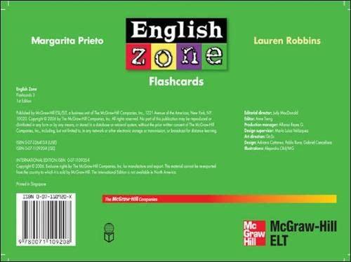 9780071109208: ENGLISH ZONE FLASHCARDS 3
