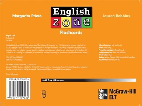9780071109222: ENGLISH ZONE FLASHCARDS 5