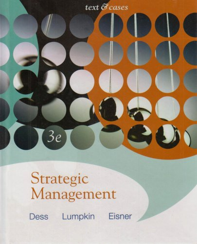 9780071109406: Strategic Management: Texts & Cases