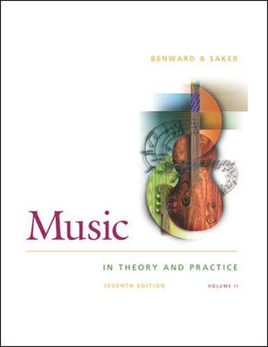 9780071110112: Music in Theory and Practice: With Anthology CD V. 2