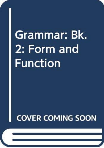 9780071110679: Grammar: Bk. 2: Form and Function