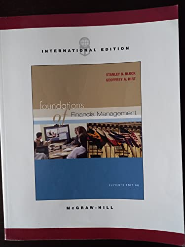 9780071110969: Foundations of Financial Management (The Mcgraw-Hill/Irwin Series in Finance, Insurance, and Real Estate)