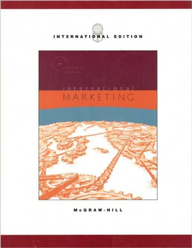 9780071111027: International Marketing (The Mcgraw-Hill/Irwin Series in Marketing)