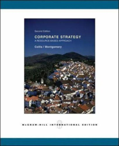 9780071111072: Corporate Strategy: A Resource-Based Approach