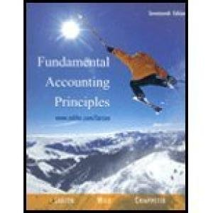 9780071111232: Fundamental Accounting Principles (International Edition) Edition: seventeeth