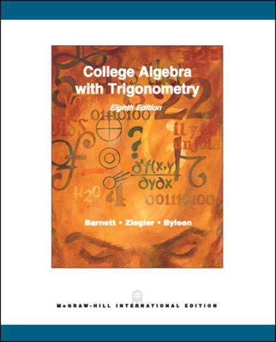 9780071111270: College Algebra with Trigonometry