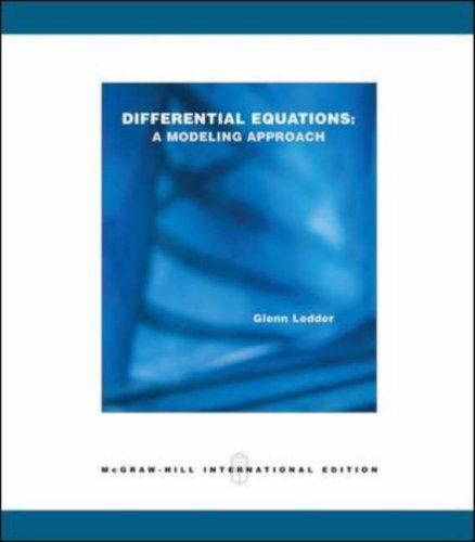 9780071111515: Differential Equations: A Modeling Approach