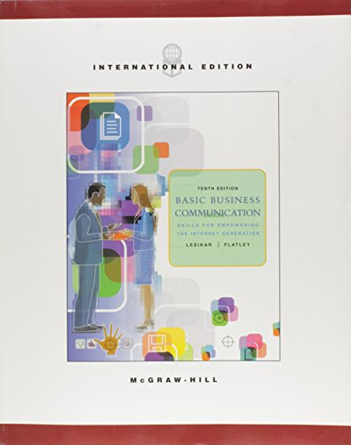 Basic Business Communication: Skills for Empowering the: Raymond Vincent Lesikar,