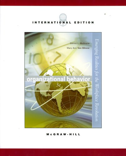 9780071111638: Organizational Behavior: Emerging Realities for the Workplace Revolution