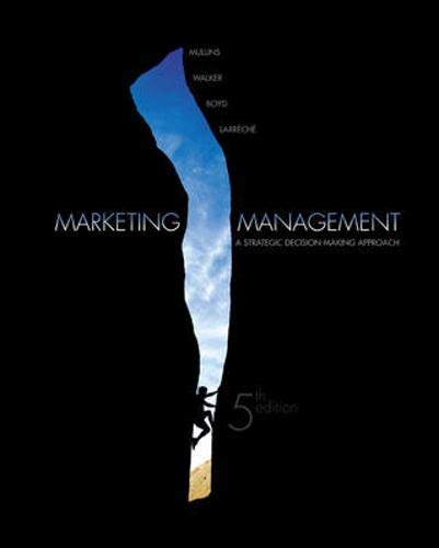 9780071111690: Marketing Management: A Strategic, Decision-making Approach