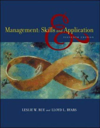 9780071111850: Management - Skills & Applications (11th, 05) by Rue, Leslie W - Byars, Lloyd L [Paperback (2004)]