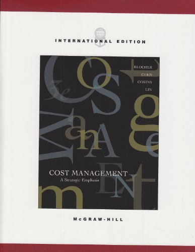 9780071112109: Cost Management: A Strategic Emphasis