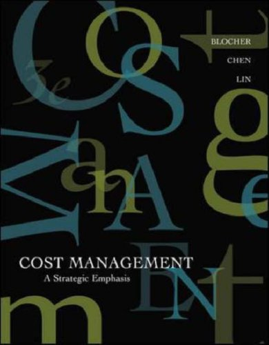 9780071112116: Cost Management: A Strategic Emphasis