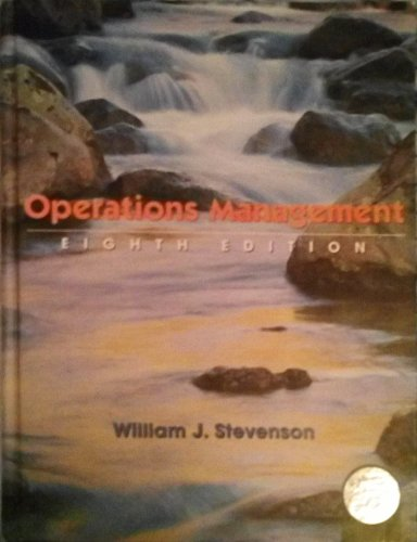 9780071112185: Operations Management (International Edition)