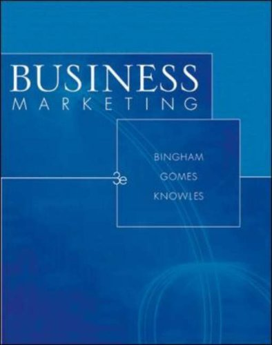 9780071112529: Business Marketing