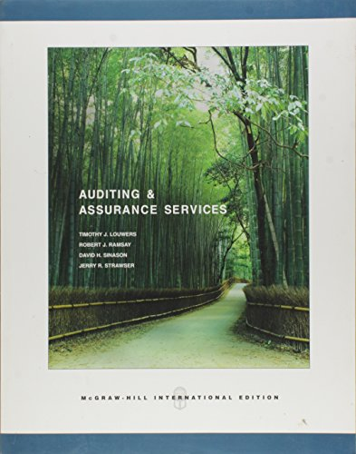 9780071113007: Auditing and Assurance Services